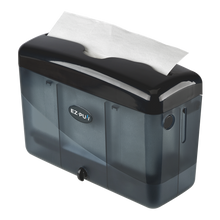 Load image into Gallery viewer, EZ-PUll countertop slimfold paper dispenser pairs with our slimfold P2F5 hand towel to fit into the tightest space with its compact yet elegant design. It's constructed with durable high impact rigid ABS plastic.
