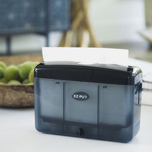 EZ-PUll countertop slimfold paper dispenser pairs with our slimfold P2F5 hand towel to fit into the tightest space with its compact yet elegant design. It's constructed with durable high impact rigid ABS plastic.
