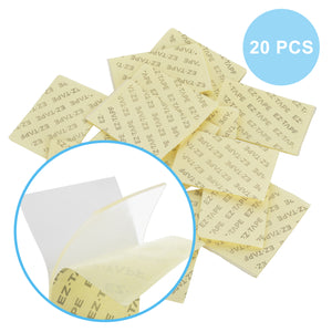 EZ-TAPE Pre-Cut Multipurpose Clear Double Sided Tape, 20 PCS
