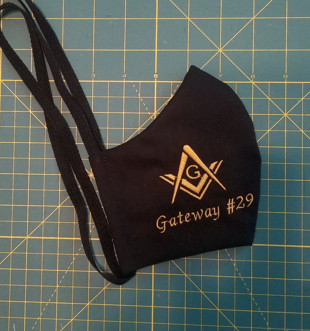 Masonic Square and Compasses Face Mask - Heavyweight
