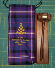 "Load image into Gallery viewer, Masonic Tartan Commemorative Gavel Bag Size 6"" X 13"""