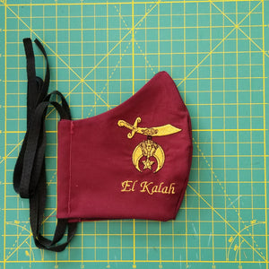 Shriner Logo Mask with Custom Temple Name - Heavyweight