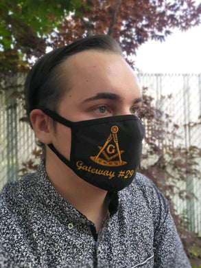 Lightweight Custom Face Mask - Past Master with G