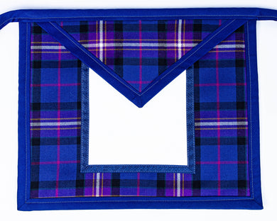 Freemason's Universal Tartan Apron Vinyl Backed - Wide Tartan Border You choose an emblem for both the field & the bib on next page.