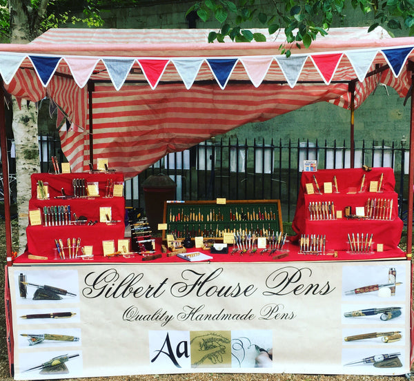 Gilbert House Pens in Cambridge at All Saints Craft Market, Handmade fountain pens and handmade ballpoint pens
