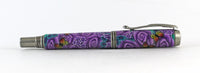 Purple Flower and Butterfly Fountain Pen