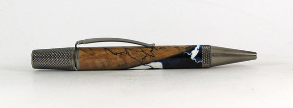 Churchill Ballpoint pen in Spalted Beech and Resin