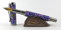 Fitz Fountain Pen in Polymer clay featuring Bumble Bees and Flowers