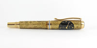 Gilbert  Fountain pen in Gold with Watch Parts