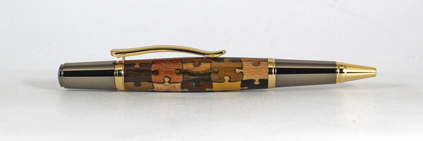 Pembroke Ballpoint with 16 Species of wood Jigsaw