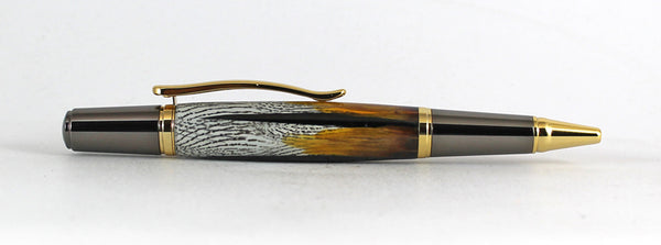Pembroke with Golden Pheasant Feathers
