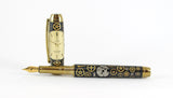 Queens Fountain Watchpart pen with Vintage Omega dial