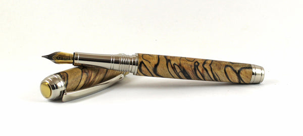 Queens Fountain Pen in Cross Cut Spalted Beech