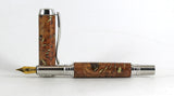 Fitz Fountain pen in Elm Burr and Brass