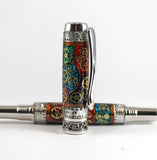 Stained glass and Watchparts Fountain pen