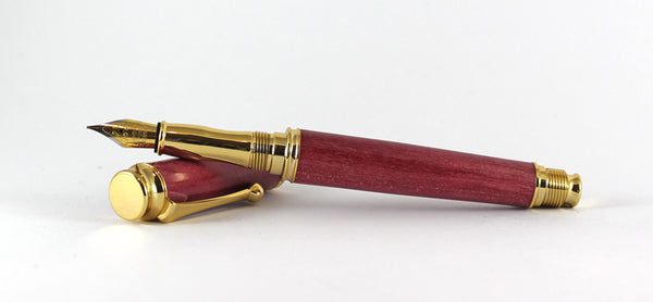 Trinity Gold Fountain Pen in Dyed Sycamore