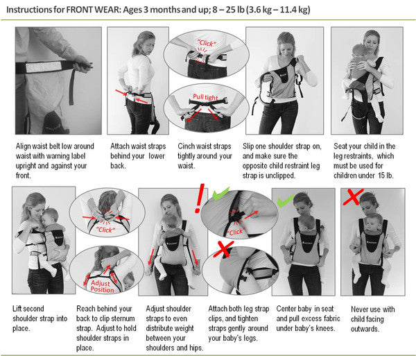 Bitybean Infant Carrier Use Instructions
