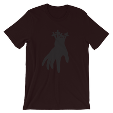 "Load image into Gallery viewer, ""Just the hand"" - Short-Sleeve Unisex T-Shirt with the Riddarna hand logo"