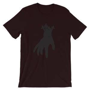 """Just the hand"" - Short-Sleeve Unisex T-Shirt with the Riddarna hand logo"