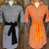 High end resort dresses, gingham dresses, coastal print dresses, equestrian print dresses