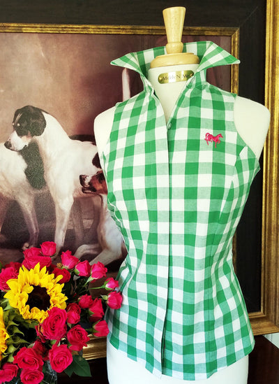 Summer Ride Gingham in Clover