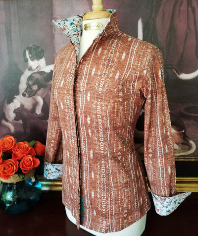 JOSIE SHIRT IN CHESTNUT