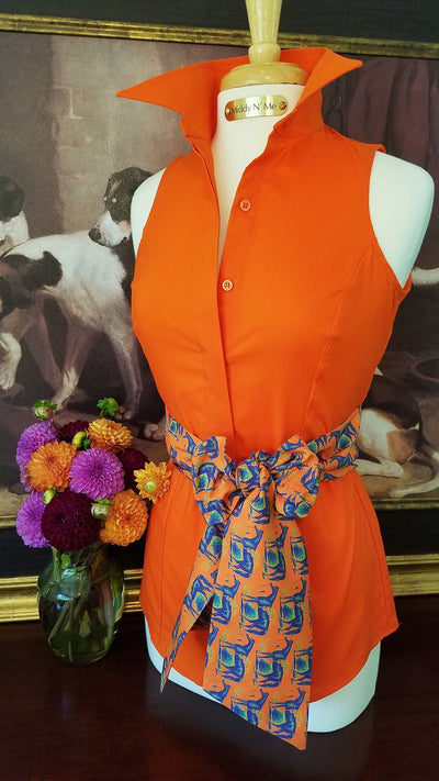 Summer Ride with Doncaster Sash in Orange