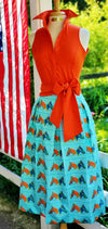 HORSE COUNTRY SKIRT IN TURQUOISE