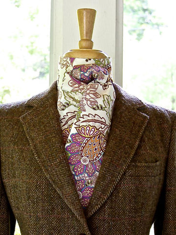 Stock Tie in Orchid Paisley