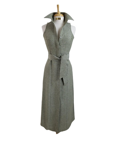 CANYON LINEN DRESS IN OLIVE