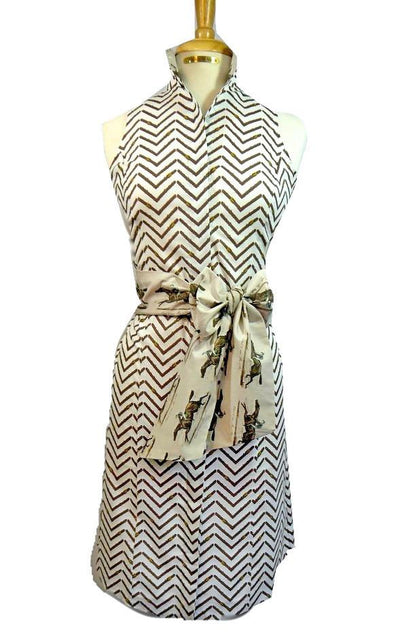 PRIX DE LUTECE DRESS ON CHEVRON REIN