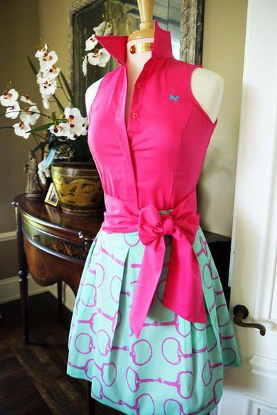 SUMMER RIDE SHIRT WITH SASH IN FUCHSIA