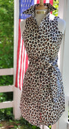 THE LEOPARD ROOM DRESS WITH SASH - Middy N' Me