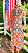 WINNIE DUSTER / DRESS / SIZE 14 / LONG SLEEVE / KNEE LENGTH / #3554