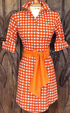 SWEET MELISSA DRESS IN TANGERINE