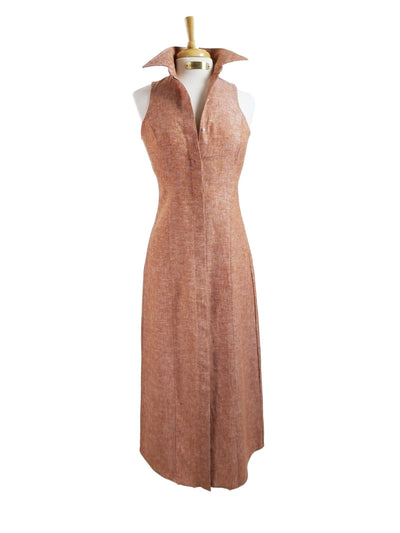 CANYON LINEN DRESS IN RED ROCK