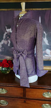 HOLIDAY SPARKLE SHIRT WITH SASH IN SUGAR PLUM