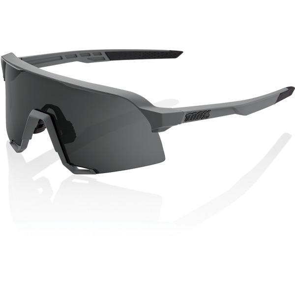 100% Cycle Clothing > Sunglasses 100% S3 - Matt Cool Grey - Smoke Lens