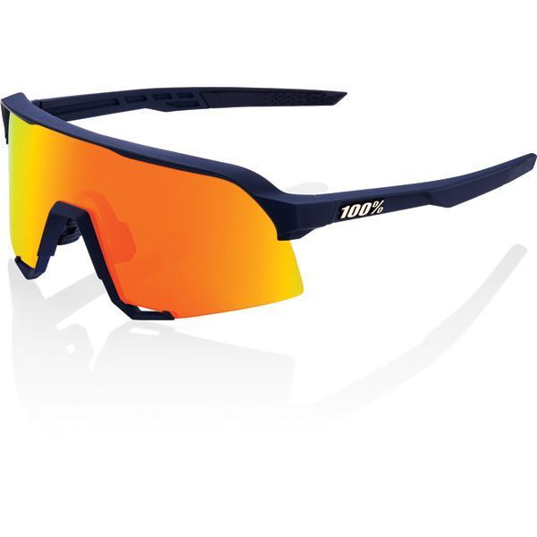 100% Cycle Clothing > Sunglasses 100% S3 - Soft Tact Flume - HiPER Red Multilayer Mirror Lens