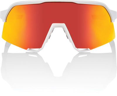 100% Cycle Clothing > Sunglasses 100% S3 - Soft Tact White - HiPER Red Multilayer Mirror Lens