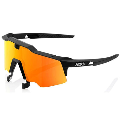 100% Cycle Clothing > Sunglasses 100% Speedcraft Air Sunglasses Soft Black HiPER Red Mirror