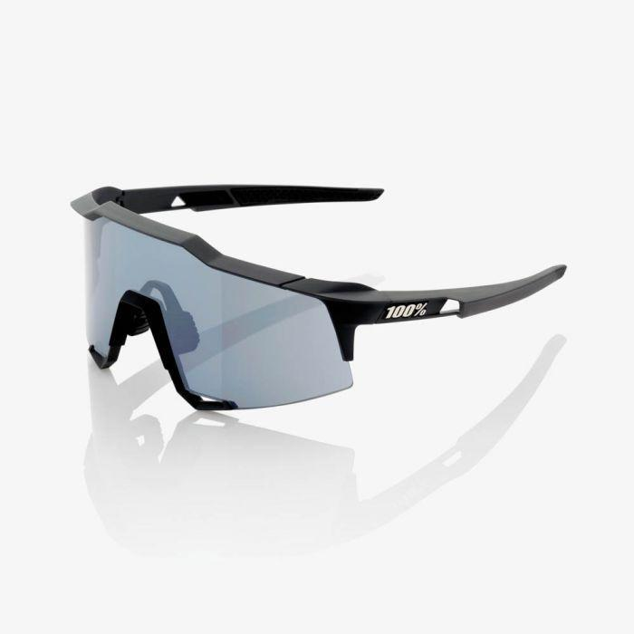 100% Cycle Clothing > Sunglasses 100% Speedcraft Sunglasses Soft Tact Black Smoke Lens