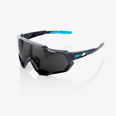 100% Cycle Clothing > Sunglasses 100% Speedtrap Sunglasses Polished Black Graphic Black Mirror Lens