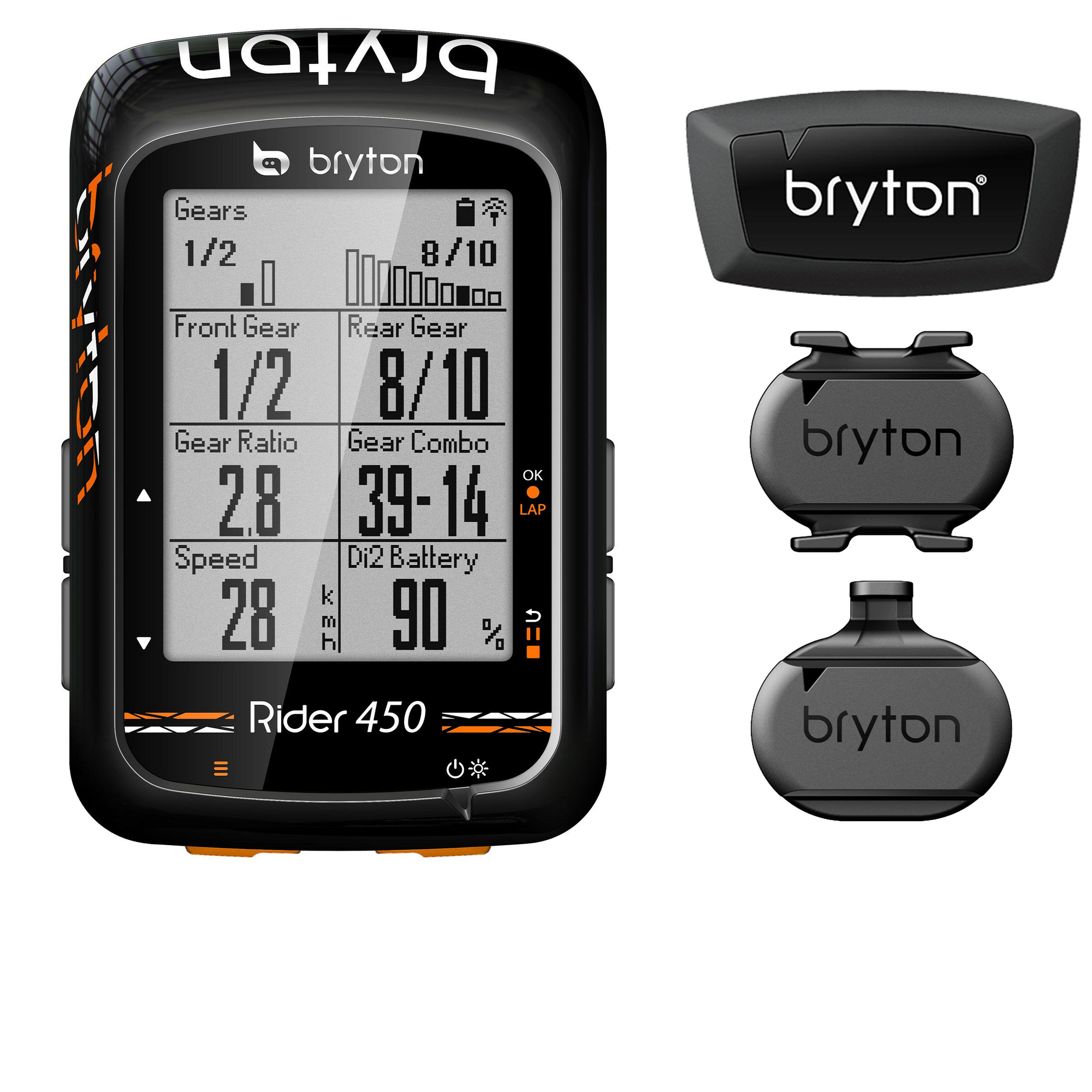 Bryton Accessories > Computers Bryton Rider 450 inc Cadence + Speed + HRM Bundle