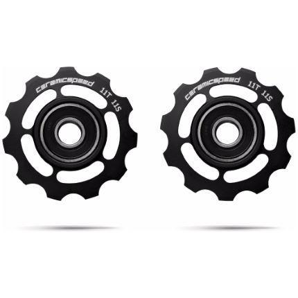 CeramicSpeed Components > Gears Black CERAMICSPEED 11 SPEED SHIMANO PULLEY WHEELS