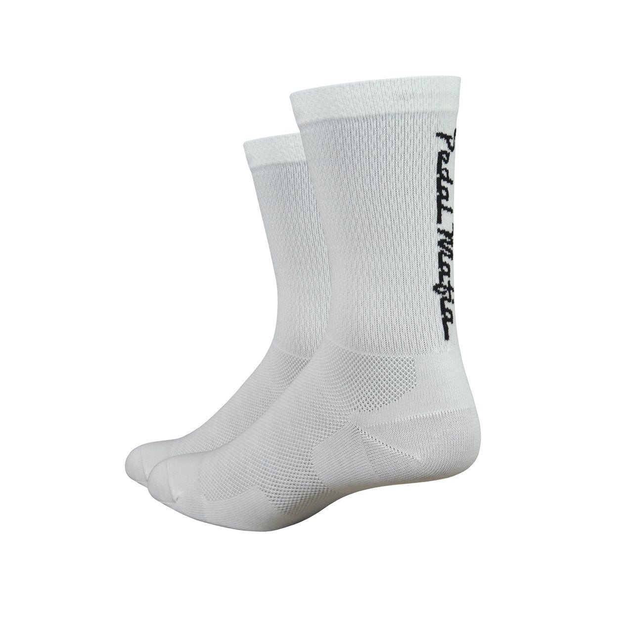 "Defeet Cycle Clothing > Socks White/Black / s DeFeet Pedal Mafia Levitator Lite 6"" Socks"