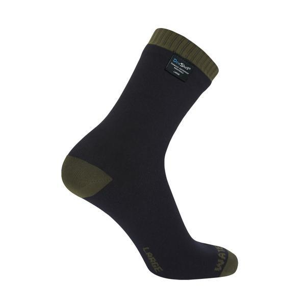 Dexshell Cycle Clothing > Socks DEXSHELL THERMLITE SOCKS BLACK/OLIVE