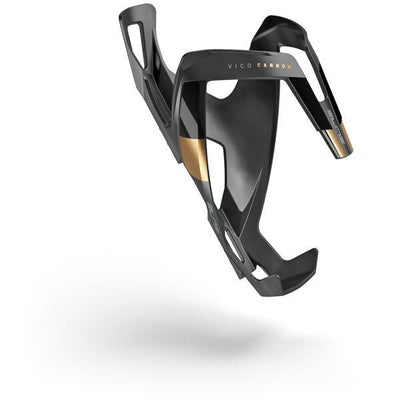 ELITE Components > Bottle Cages Matt Black / Gold ELITE VICO CARBON BOTTLE CAGE