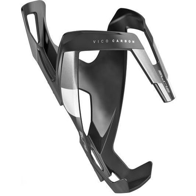 ELITE Components > Bottle Cages Matt Black / White ELITE VICO CARBON BOTTLE CAGE