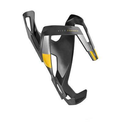 ELITE Components > Bottle Cages Matt Black / Yellow ELITE VICO CARBON BOTTLE CAGE